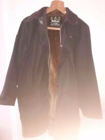 Green Barbour Coat w/ Pile Lining