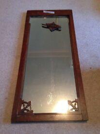 Lovely old, oak-framed mirror