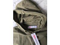 Boy's Hoodie —Olive Green —NEW —RRP £15