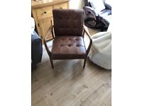 * NEVER BEEN USED * Humber armchair vintage brown leather