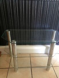 3tier glass television stand in good condition no scratches or marks