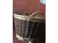 Wicker log basket (possible antique)