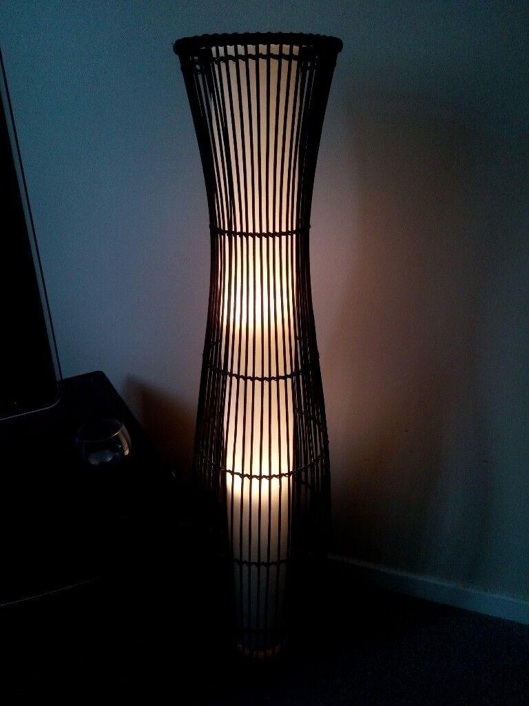 Sirit Rattan Floor Lamp Dark Brown In Paisley Renfrewshire