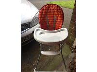 High chair and changing unit