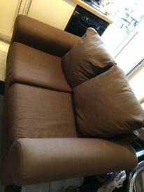 2 seater brown sofa free to collect