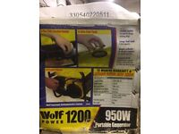 WOLF POWER 1200/950 2.4 HP 4 stroke, BRAND NEW. Never been out of the box.