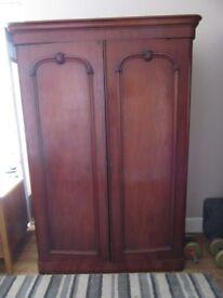Two Door Victorian Wardrobe / Linen Press with locking key