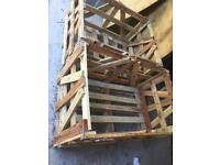 Wooden pallets and crate