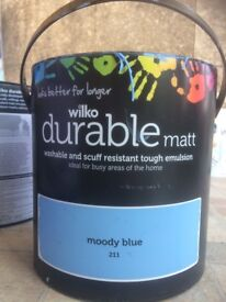 FREE Durable matte paint, Moody blue- 1/2 tin