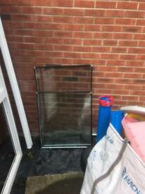 Glass windows and PVC frames