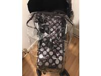 small stroller side button raincover only. sold as seen.