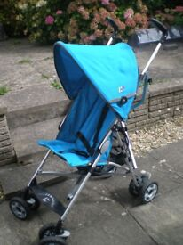 CHICCO STROLLER-PRAM WITH ORIGINAL RAIN COVER+FIVE POINTS SAFETY STRAPS+FOOT REST