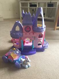 Disney fisher price castle and princesses