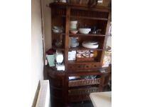Heavy Walnut kitchen dresser