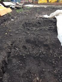 Free for gardening quality top soil and landfill soil