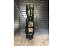 Golf Clubs and Slazenger Bag