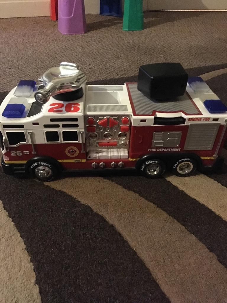 Children's fire engine with sounds and lights