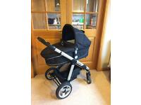 iCandy Apple Pram, maxi cosi car seat, isofix, baby gates, bed guard, Moses basket / crib