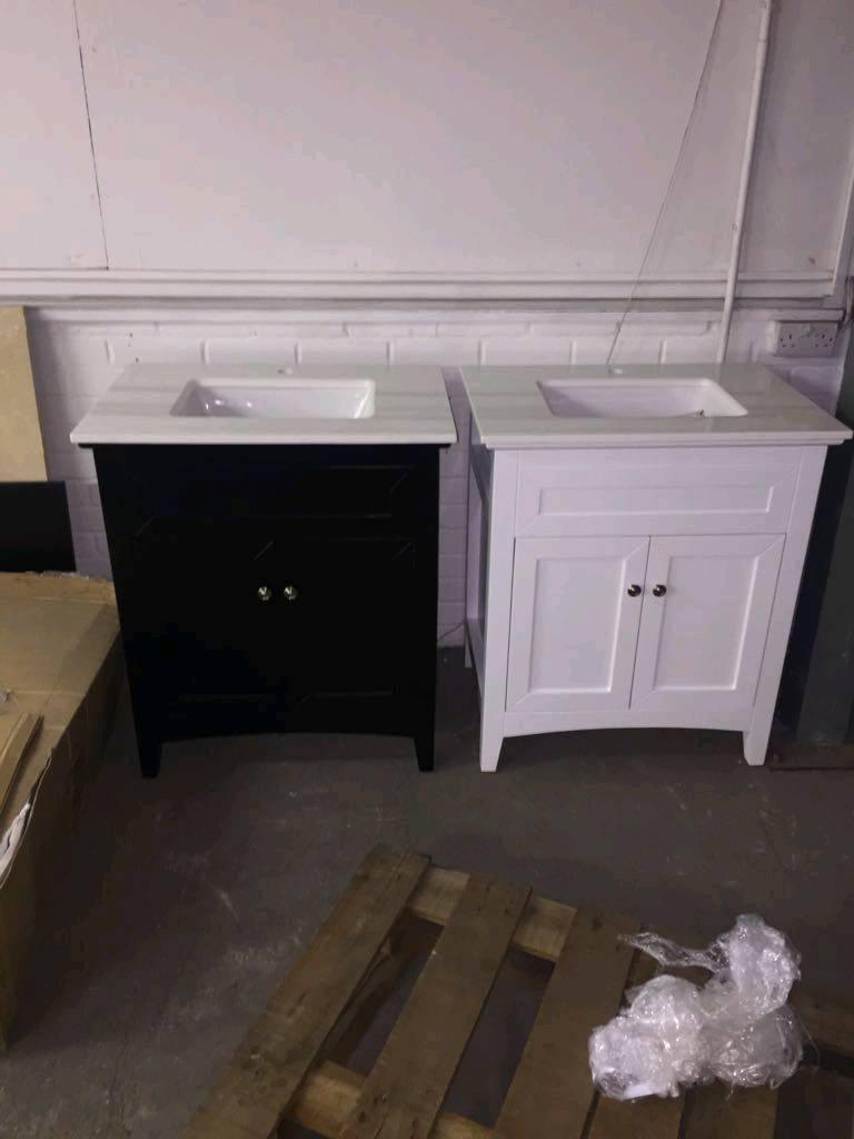 Vanity bathroom units cheap units black.white. new