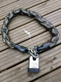 Squire high security motorcycle chain and padlock