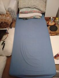 Single Bed Mattress with pillows and sheets