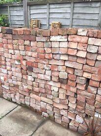 800 reclaimed 1930s house bricks