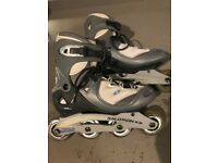 Pre-owned Womens Size 7.5 Salomon Inline Skates.