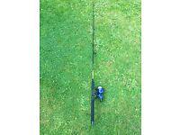 ROD & REEL COMBO: LC-801 FISHING REEL WITH LINE GEAR 5:1:1 & SPORTSTER ROD - 1.8m