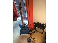 Electric guitar, Amp, Leads and effects unit for sale
