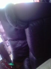 Brown Two Seater Leather Sofa Free!!!