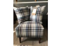 Ex display FABB sofa Robyn pattern nursing accent chair with scatter cushion x 2 RRP £319