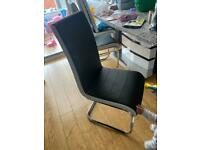 Dining chair faux leather black £60 each chair