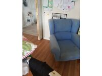 Free to uplift. Very marked high backed chair