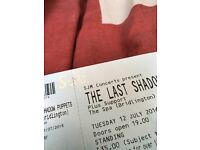 2 Standing Tickets The Last Shadow Puppets Bridlington