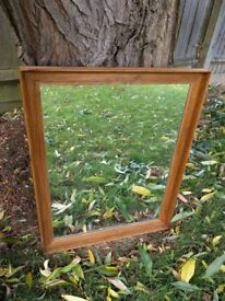 Mirror with woodedn frame, vgc
