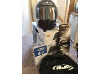 HJC IS - 17 Lorenzo Replica Motorcycle helmet full face size small worn once!