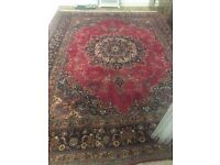 GIANT Rug - Deep reds and intricate Kashan Persian design