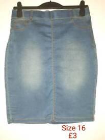 Brand new ladies denim skirt size 16