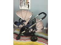 icandy peach 3 blossom - 1 carrycot & 1 main jogger seat