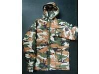 New Camouflage bubble coat