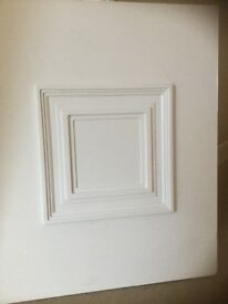 Upvc raised white panel