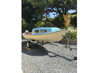 """Fishing Boat 4.8m (~15' 8"""") with Trailer & Honda 5hp Outboard"""