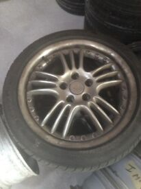Vauxhall Irmisher 17in Alloys 215 x 45 x 17 with 3 Tyres - Very Rare - Need Refurb Hence only £50.00