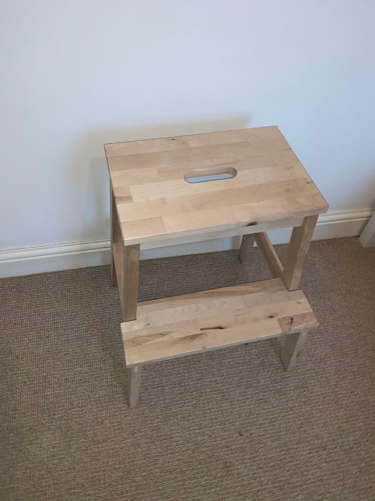 Stool Bedside Table: Bedside Table / Step Stool