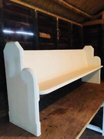 Large Pitch Pine Church Pew Shabby Chic Annie Sloan Old White Chalk
