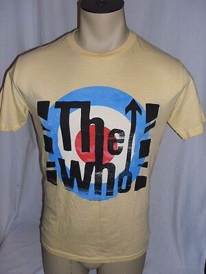 The Who Live Nation Yellow T Shirt Size Small Townsend Daltry Moon