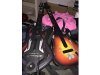 2 x Xbox guitar hero guitars