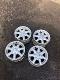 "14"" mk3 vw golf alloys wheels"