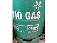 3 empty 13kg patio gas bottles