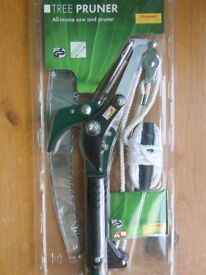 LONG HANDLED TREE PRUNER/SAW (2.4 M) NEW IN PACKET, FLORABEST